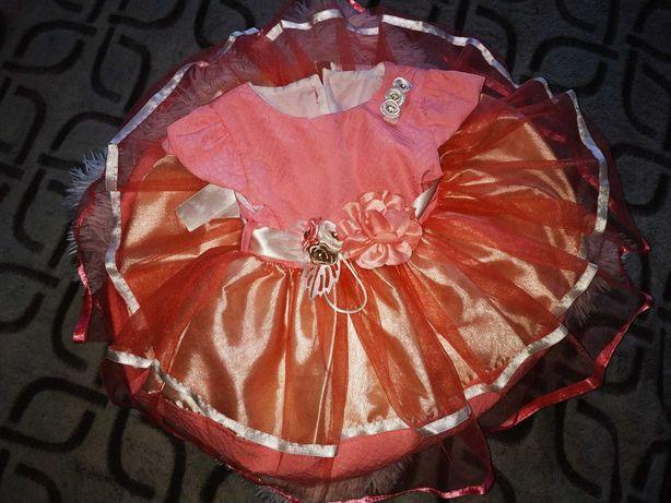 Нарядное Платье для девочки 0-6мес
