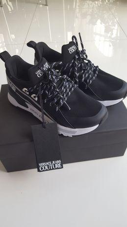 Nowe czarne buty Versace Jeans Couture
