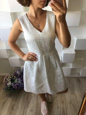 Нарядное белое платье cynthia rowley  М-L