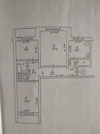Своя 3 комн. квартира, без комиссии (хозяин) 64м!