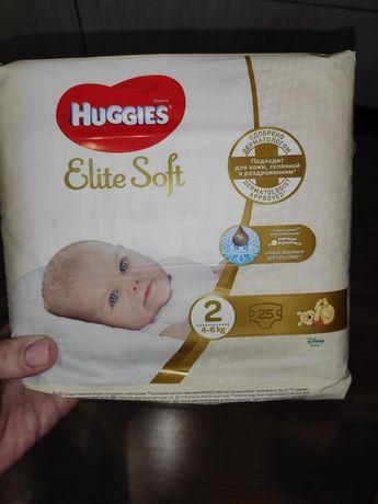 Подгузники Huggies elite soft 2 25 шт