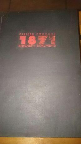 Stara książka Pariser Kommune 1871
