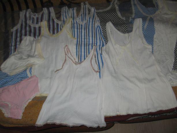 Детское винтажное нижнее белье для девочек( нейлон,акрил вискоза)5-8ле