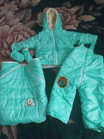 Зимний комбинезон с курткой 3-ка