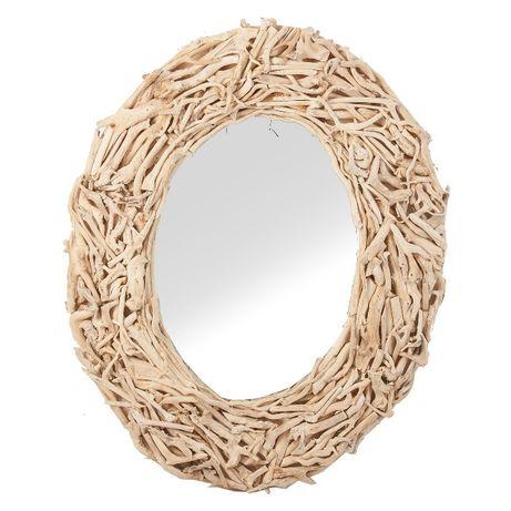 Espelho Oval Troncos Teca Mirror Natural Wood - NOVO by OVO Home