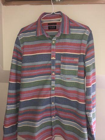 koszula w paski Vintage oversize kolorowa
