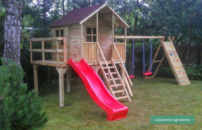 WIOSENNA PROMOCJA ! Drewniany plac zabaw JULIA dla dzieci do ogrodu