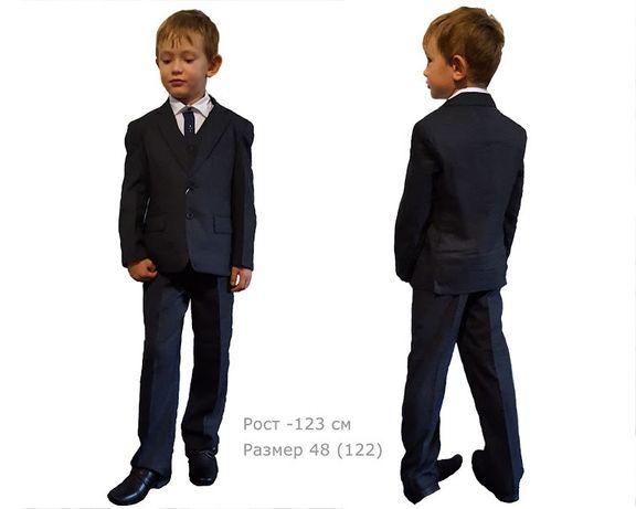 Костюм тройка Rodeng для мальчика 48р. 122см черный цвет+рубашка