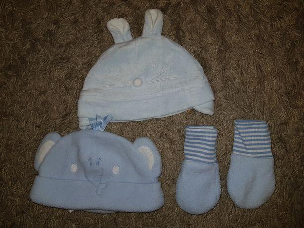 Czapeczka rękawiczki dla chłopca 56 czapki czapka cherokee
