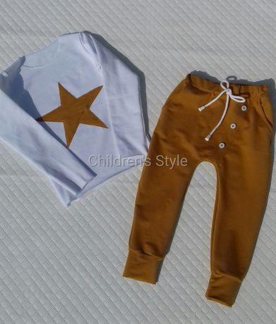 baggy, bluzka, dres, komplet. spodnie