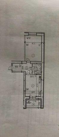 Однокомнатная на 5-м этаже в новострое