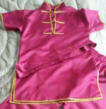 Ифу розовый - костюм для занятий ушу