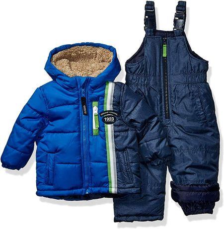 Теплый комплект куртка + полукомбинезон. 12мес.