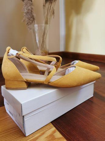 Czółenka sandałki rozmiar 40 ideal shoes