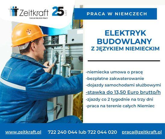 Elektryk Niemcy z językiem niemieckim