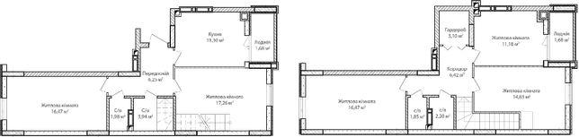 5-ти комнатная двухуровневая квартира