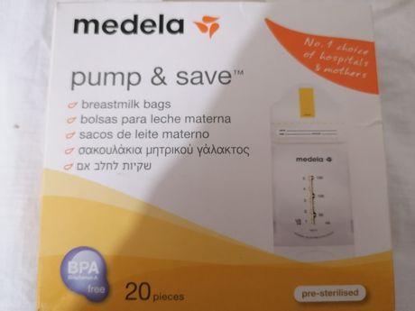 Sacos para leite materno da Medela