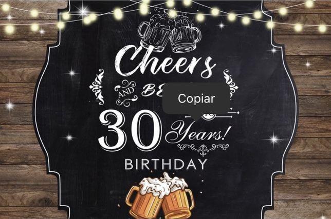 """Backdrop / Fundo de festa """"30 anos"""""""