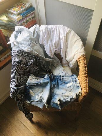 Paczka damskie ubrania i dodatki M/L