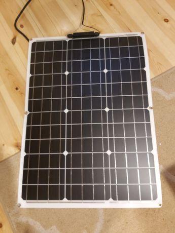 Elastyczny panel fotowoltaiczny słoneczny 50w 50x70cm +kontroler