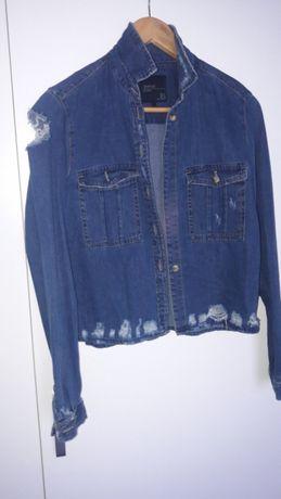 Koszula/ katana jeansowa Zara porwana S