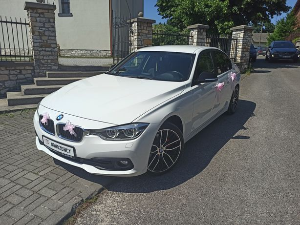 Samochód do ślubu BMW seria 3 f30 lift wynajem na każdą okoliczność