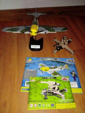COBI MESSERSCHMITT BF 109E samolot i Flak 36/37 działo niemieckie