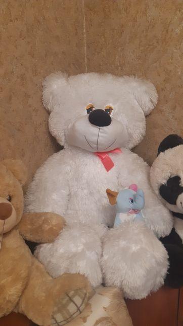 Большой медведь подарок Мягкие игрушки мишка белый
