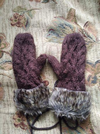 Теплі жіночі рукавиці