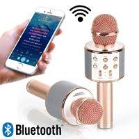 Microfone Para Karaoke Portátil Bluetooth