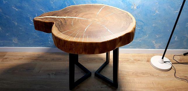 Стол из дерева. Слеб Орех.Диаметр 85см. Столы из массива. Акция - 19 %