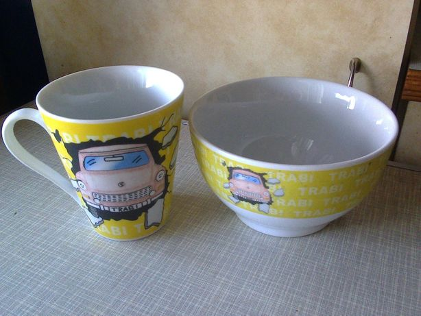 Тарелка-миска + чайная чашка Trabi (набор) посуда для детей/мальчика
