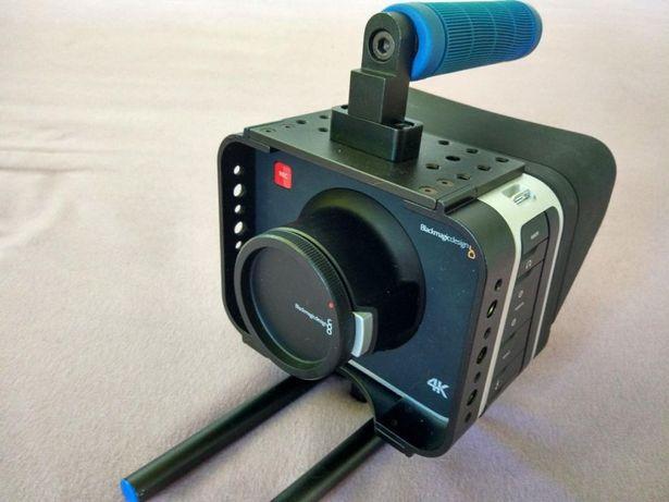 Blackmagic Production Camera 4K EF (2xSSD, baterie, klatka) + RESOLVE