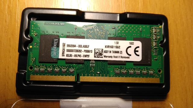 Оперативная память Kingston 2 Gb DDR3 1600mhz