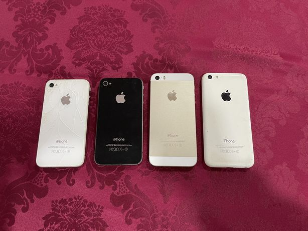 Apple iPhone 4 (2 unidades) + iPhone 5C + iPhone 5S sem bateria