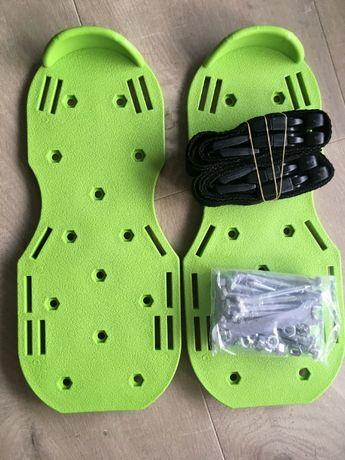 Aerator sandałowy buty z kolcami ogrodowe