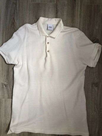 Koszulka męska polo zara xl biała