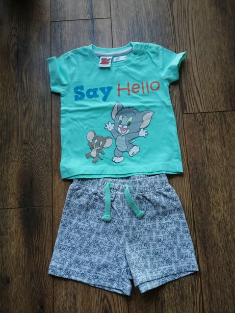 Komplet t-shirt spodenki Tom&Jerry r. 80