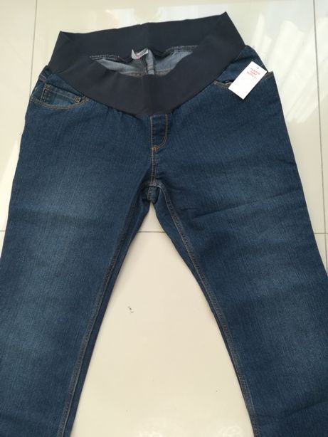 Spodnie Nowe ciążowe XL jeansowe