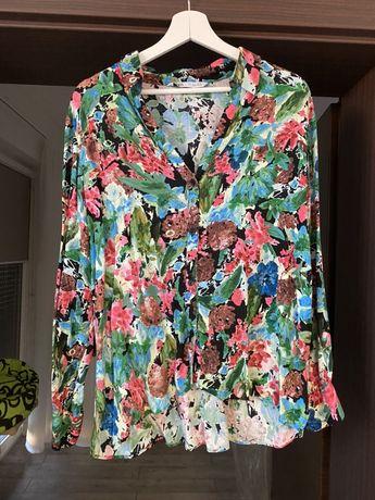 Koszula ZARA kwiaty rozmiar L