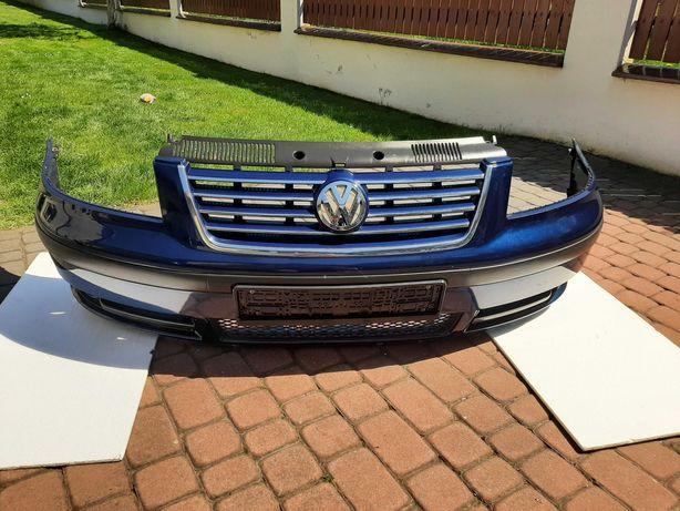 Zderzak przedni Volkswagen Sharan, stan bdb,kompletny,niebieski.