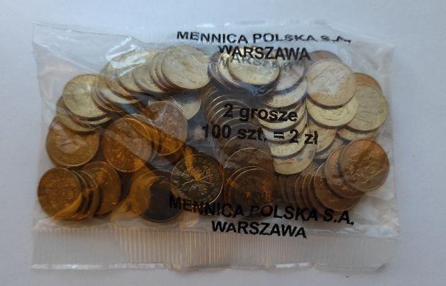 monety-2 grosze 2005 woreczek menniczy
