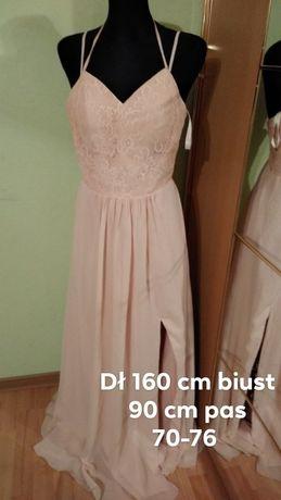 Sukienka roz m pudrowa