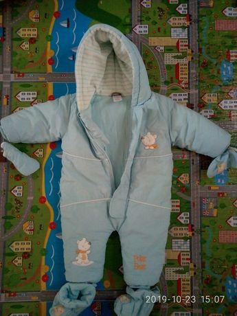Комбинезон, куртка зимний 0-8 мес