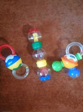 Пакет фирменных игрушек, погремушки, грызуны chicco, чико, чикко