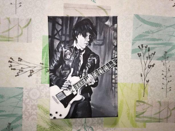 Quadro Pintado à mão: Guitarrista