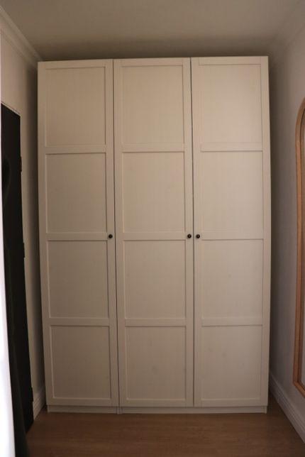 3 x Drzwi do szafy PAX Ikea HEMNES drewniane białe