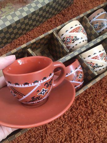 Новий Кавовий сервіз кофейный сервіз набір чашок подарок
