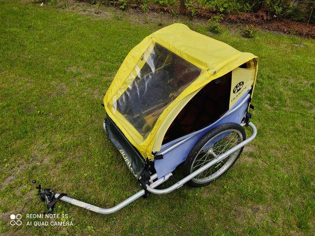 Przyczepka rowerowa riksza do roweru Burley D'lite aluminiowa 2 dzieci