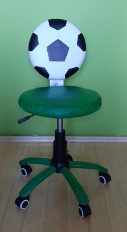 zielone krzesło obrotowe do biurka piłka nożna ekoskóra wysyłka gratis